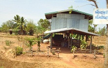 Thai house northeastern Thailand.