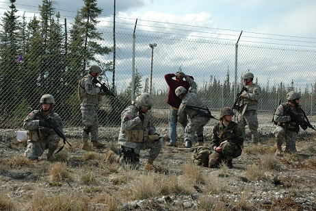 The Nebraska National Guard and  Alaska Air National Guard conduct joint execise Alaska Shield/Northern Edge 07. The U.S. Northern Command is practicing combat situations on American soil.
