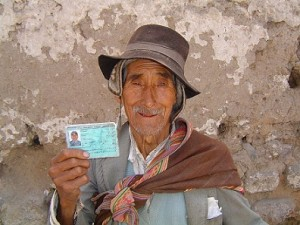 A South American peasant has been registered and given a biometric ID card. His data and the data for all residents of the Americas will be on databases with all other databases, using a common language. Without registration and a biometric ID card with a unique identifier, you don't exist. Registration is a global project. In the New World Order, you cannot hide..