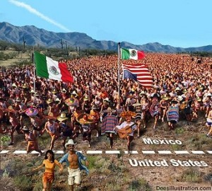 Mexicans will take over a large part of the United States. Our government wants them to support Social Security and corporations want them for cheap labor. What do you call it when a corporate/government partnership destroys their own nation for greed?