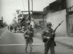 1965, Watts. Los Angeles. National Guard units put down the rioting. In Detroit, 4,700 troops of the 82nd airborne helped bring order in 1967.